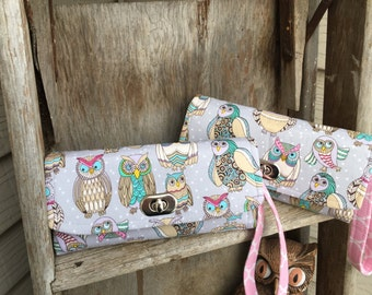 Owl Wallet, Sping Wallet, Owl Necessary Wallet, Owl Clutch, Owl NCW Wallet, Ready to Ship
