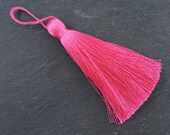 Extra Large Thick Magenta Pink Thread Tassels - 4.4 inches - 113mm - 1 pc