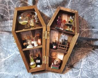 Mad Scientist Miniature Coffin Shadow Box