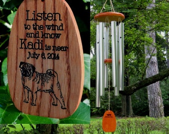 Custom Dog Wind Chimes - Pet Loss - Can Be Breed Specific - Memorial Wind Chimes - Sympathy Gift - Engraved Chimes - Dog Loss - IHeartDogs