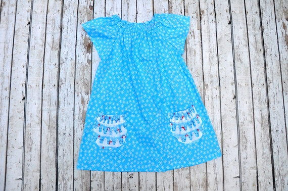 Snowflake Peasant Dress 18/24 MTH