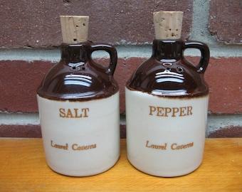 salt and pepper shakers jugs whiskey crock vintage souvenir ceramic