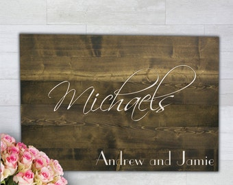 Guest Book Alternative Wooden Wall Plank Wedding Souvenier