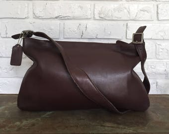Reserved for MEGAN Vintage Brown Leather Coach Shoulderbag