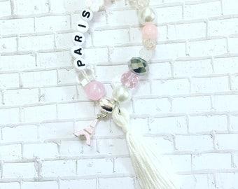 Paris Beaded Bracelet, Little Girl's Beaded Bracelets, Kids Beaded Bracelets, Girl BoHo Bracelet, Bracelet For Kids, Kids Beaded Jewelry