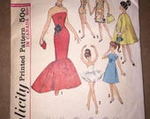 Vintage Simplicity 5215 Barbie Doll Pattern