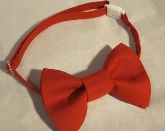 Boys Red Bow Tie, Red Bow Tie Boys, Red Bowtie, Red Baby Bow Tie, Red Valentine Bowtie for Boys, Baby Valentines Bow Tie, Baby Bowtie