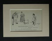 1930s Antique Julius Caesar Print, William Shakespeare Gift, Fat Dog Decor, Available Framed, Stage Art, Classic English Literature Picture