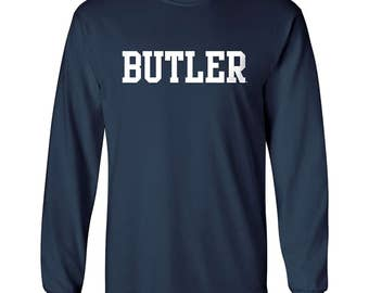 Butler Bulldogs Basic Block Long Sleeve T-Shirt - Navy