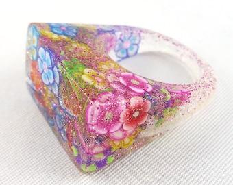 Ring, finger ring, finger jewelry, resin,