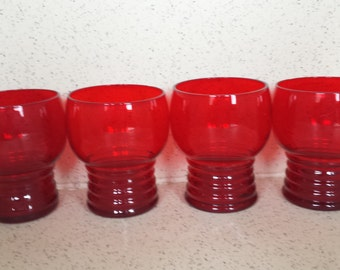 Anchor Hocking Royal Ruby Glasses - Set of 4