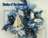 Beach Wreath, Nautical Wreath, Beach House Wreath, Lake Wreath, Beach Cottage Wreath