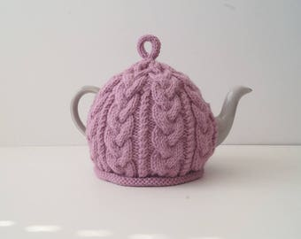 Hand Knitted Tea Cozy Medium Pink - BAILEY