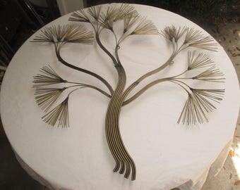 CURTIS JERE Wall ART Welded Steel Rods Pine Tree Branch Mid Century Modern Needles Huge Eames Retro Atomic  Sculpture