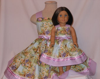 Some Bunny Loves Me, Dress Ensemble, Me & My Dolly Dresses, Bunny Dresses, Birthday Bunny, Parade Dresses, Custom, Unique, Spring Dresses,