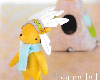 Pattern ''Teepee Ted'' Doll, Stuffed Toy, Fabric Soft Sculpture Sewing Pattern by May Blossom (MB099)