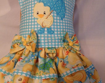 Ducks in the rain dress