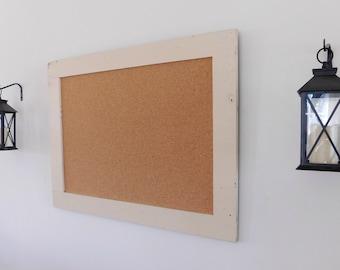 CREAM CORK BOARD - Large Message Board - 30 x 40 - Farmhouse Decor - Wedding Seating Chart - Ships Quick!