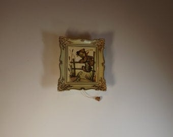 Vintage Hummel Wall Hanging Music Box in original box, Working West-Germany. Gift idea