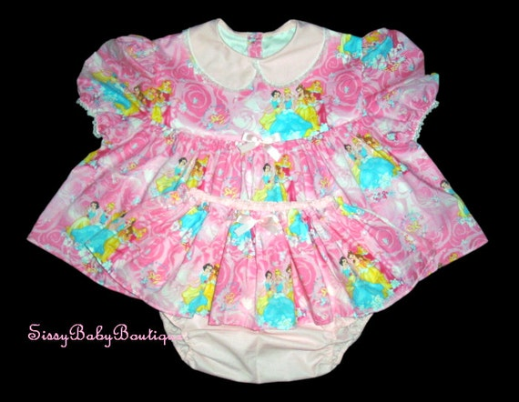 Adult Baby Diapers Princess Adult Baby Sissy Shorty Dress Up Setskirted By Somedayinthyme-1885
