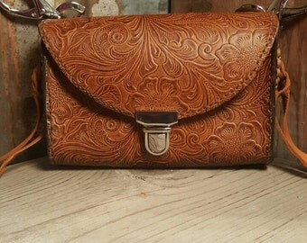 Leather Bag, Womens Leather Bag, Clip on Bag, Hip Bag, Adventure Bag