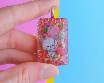 Resin Panda Necklace, Kawaii Fairy Kei Decora Cute Jewelry, Fairy Kei Necklaces Jewelry Gift for Best Friend or Girlfriend
