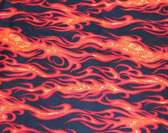 Movin' On Flame Fabric