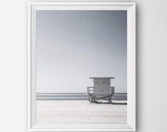 Instant Download Beach Print, Minimalist Modern Wall Art Print, Home Decor Digital Printable, Ocean Landscape Photography Minimalist