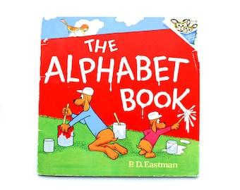 The Alphabet Book by P.D. Eastman, 1974, Children's Book, Children's Library, Vintage Children's Book, paperback book