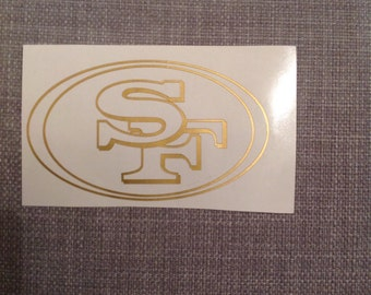 Gold 49ers decal
