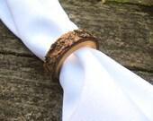 Napkin Ring, Wood Napkin Ring, Napkin Ring Wedding, Rustic Napkin Ring (set of 6)