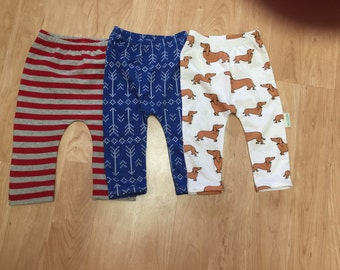 Pants for size 0-3 m to size 18m  in your choice of  fabric