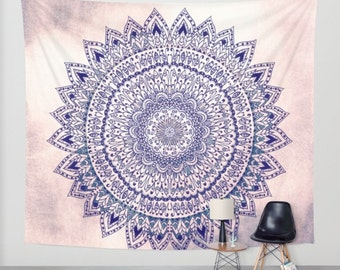 Pastel PINK MANDALIKA DREAM Wall Tapestry