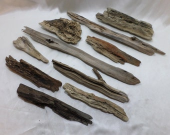 Bulk Driftwood - Driftwood Pieces - Beach Wood - Craft Supplies - 10 Unique Pieces