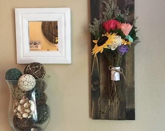 Wood Flower Bouquet Home Decor