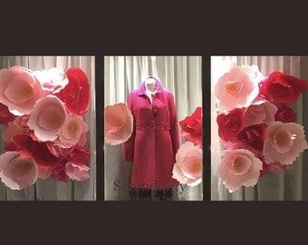 BIG Display Easy Hang Paper Rose Panels Backdrop - SHIPS FREE