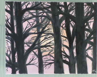 Sunrise Tree Canvas Wall Art
