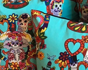 Mexican Day of the Dead cushion (square)