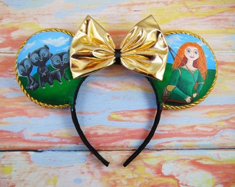 Brave, Brothers and Merida Ears (hand painted)