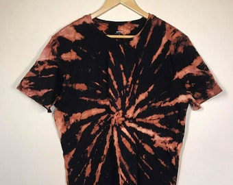 Reverse Tie Dye Shirt - bleach, music shirt, band, hipster tee, grunge, wutang clan