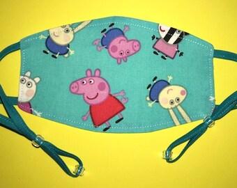 Adjustable CHILD Medical Face Mask: Peppa Pig