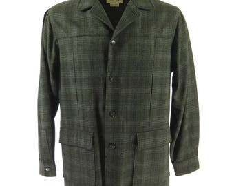 Vintage 50s Town & Country Jacket Coat Wool Mens 42 L USA Made [H72P_1-6]