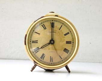 JANTAR - Vintage Mechanical Alarm Clock - Non Working Clock - from Russia / Soviet Union / Ussr
