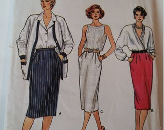 Vintage Very Easy Very Vogue Sewing Pattern 9327 Misses' Skirt in Size 8, 10, 12