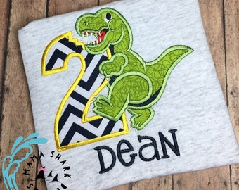 Dinosaur birthday shirt, birthday shirt, personalized birthday shirt, dinosaur