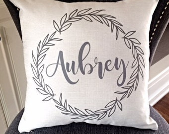 Name Pillow, Personalized Pillow, House Warming Pillow, Wedding Gift, Realtor Gift, Personalized Wedding Gift, Last Name Pillow, RyElle
