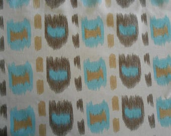 "Quadrille China Seas ""CINTRA"" Fabric 1.5 + yards 100% Linen Ikat Alan Campbell Knit Backed!"