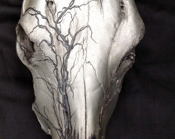 Sculpture Deer Bone Painted