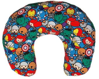Minky boppy cover - nursing pillow cover - superheroes - baby shower gifts