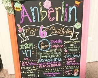 Shopkins birthday chalkboard birthday pictures